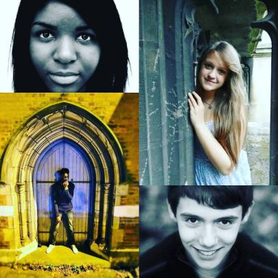 Vocalists performed 'Lead Kindly Light' by Cardinal John Henry Newman (from top clockwise): Lufuno Ndou, Lily Allen-Dodd, Joshua Dowling & John Eclou